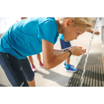 Tee shirt enfant d'athlétisme AT 100 bleu turquoise