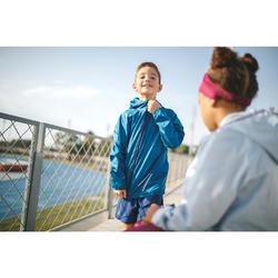 Veste enfant coupe vent d'athlétisme Kalenji AT 100 bleu pétrole