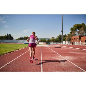 Short fille d'athlétisme AT 500 2 en 1 bordeaux violet
