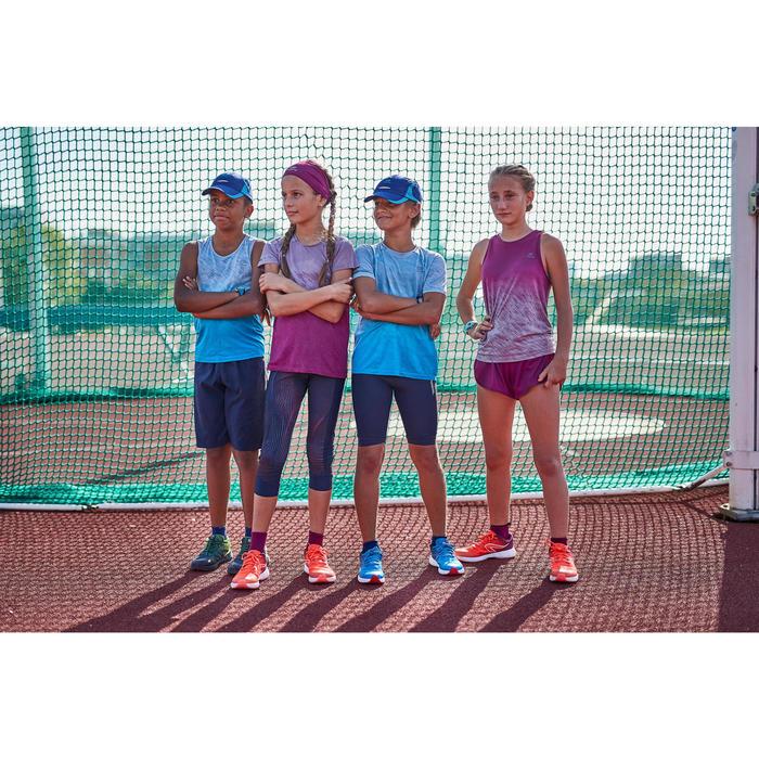Atletiektop voor kinderen AT 500 Blauw turquoise