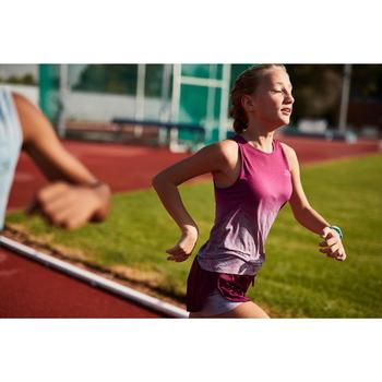 Atletiekshort voor meisjes AT 500 2-in-1 bordeaux/paars