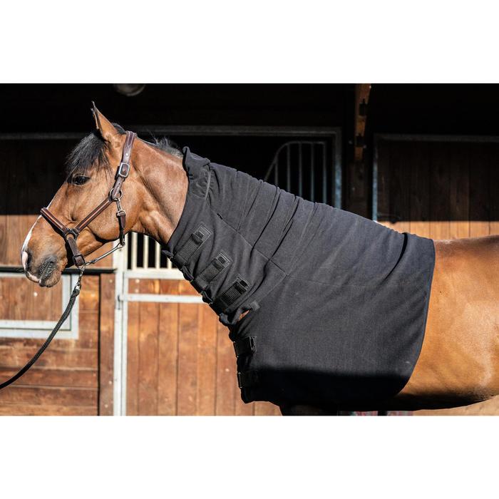 Couvre-cou équitation cheval POLAR noir