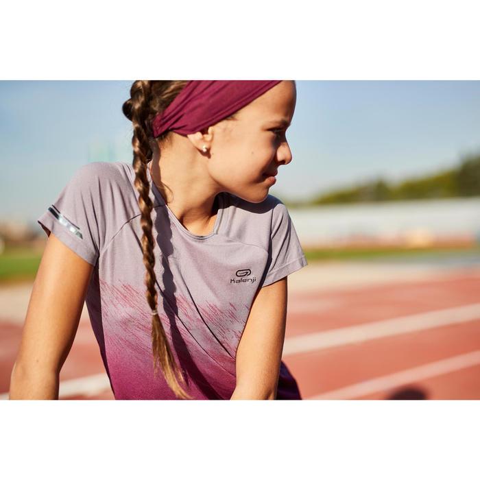 Tee Shirt fille d'athlétisme AT 500 violet