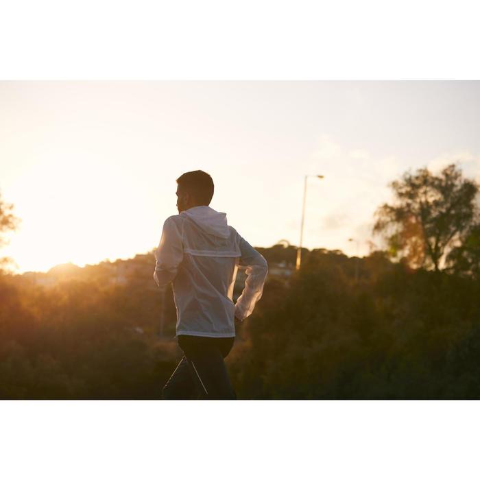 VESTE RUNNING HOMME COUPE PLUIE KIPRUN LIGHT BLANC