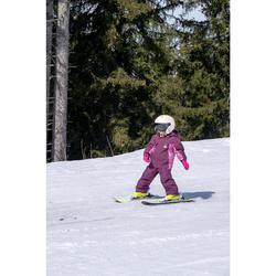 SALOPETTE DE SKI ENFANT PNF 500 ROSE ET PRUNE