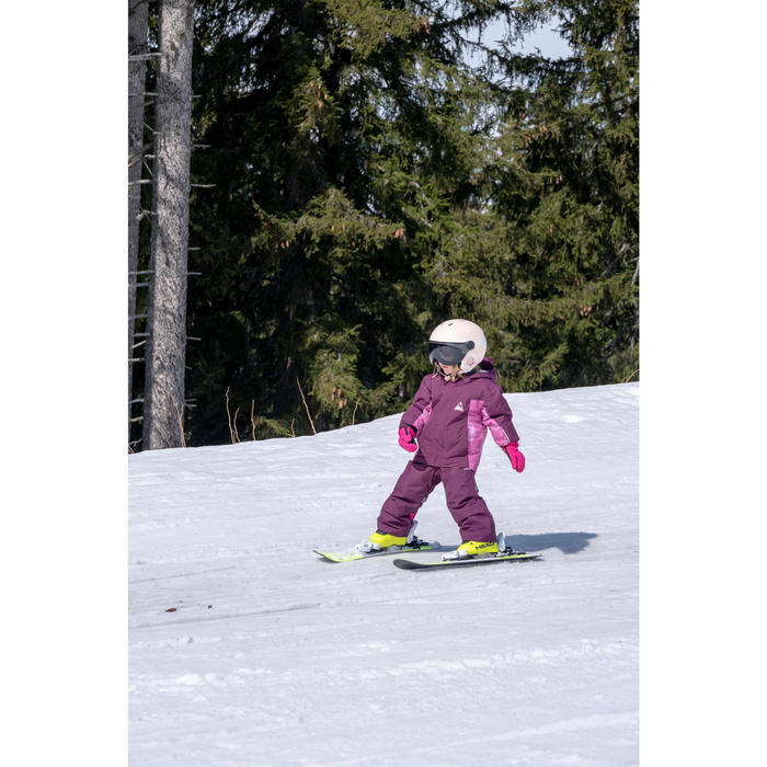 VESTE DE SKI ENFANT PNF 500 PRUNE ET ROSE