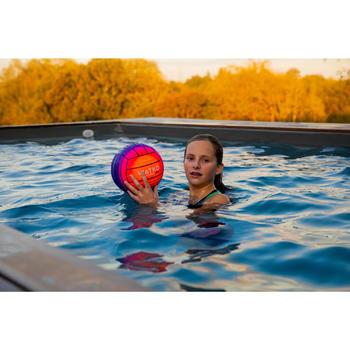 Grand ballon piscine orange rose