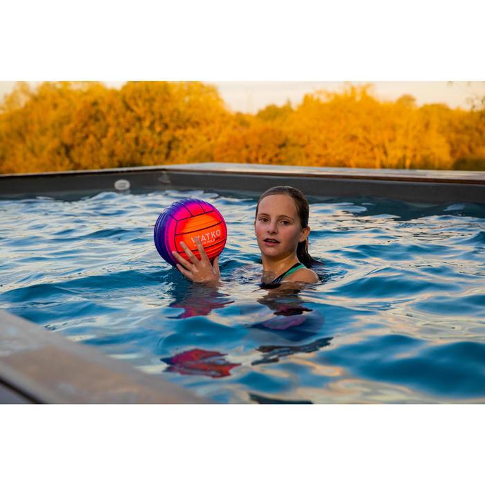 Grote zwembadbal oranje/roze