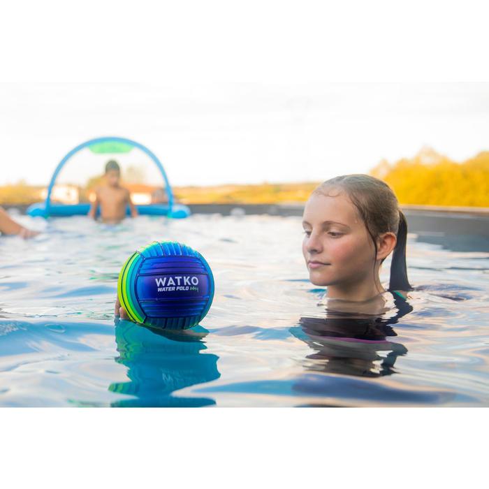 Kleine zwembadbal grip blauw groen