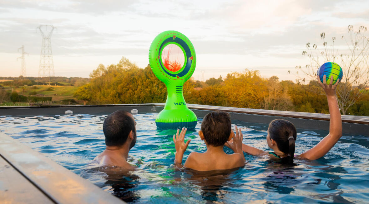 Jogos aquáticos em família