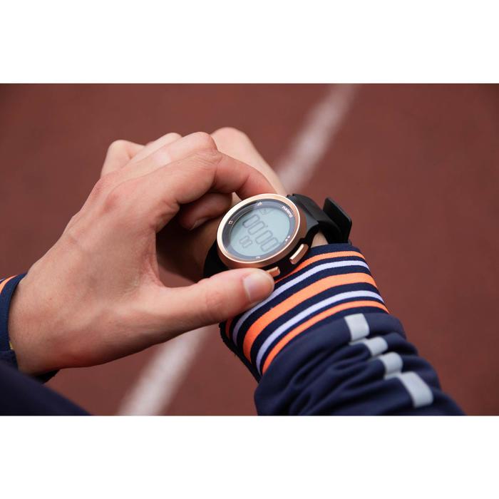 Montre chronomètre de course à pied homme W900 noire et cuivre