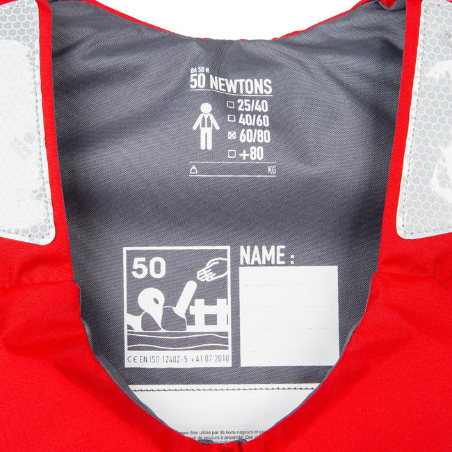 KAYAK AND STAND UP PADDLE BUOYANCY VEST - RED