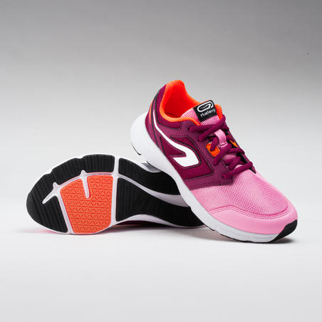 RUN SUPPORT ATHLETICS SHOELACES - PINK/BURGUNDY