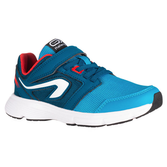 RUN SUPPORT KIDS' ATHLETICS SHOES RIP-TAB - BLUE/RED