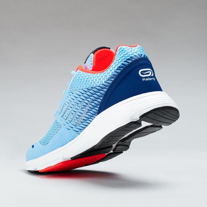 兒童款田徑運動鞋 AT 300 BREATH - 淡藍色/紅色