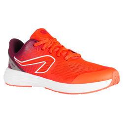 Laufschuhe Leichtathletik AT 500 Kiprun Fast Kinder neonpink/bordeaux