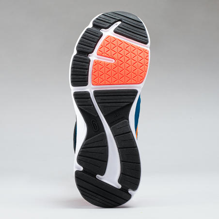 Run Support Velcro Tabs Blue/Neon Coral