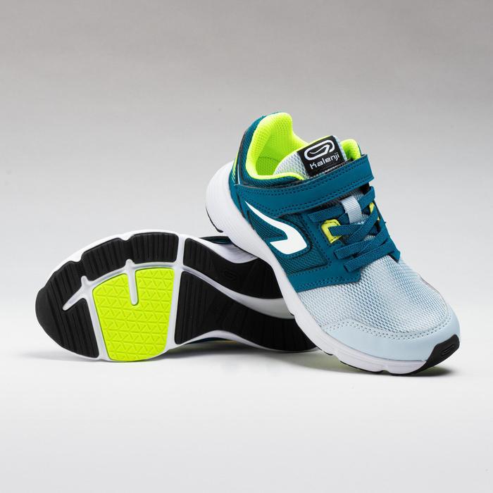Atletiekschoenen voor kinderen Run Support klittenband grijs/blauw