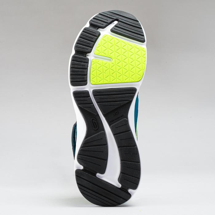 Chaussures enfant d'athlétisme Run Support scratch grises et bleues