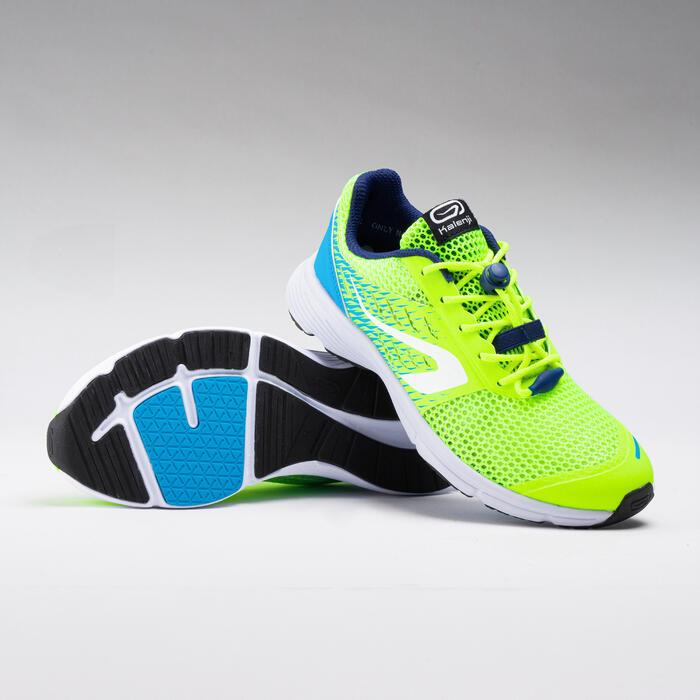 Chaussures enfant d'athlétisme AT 300 Breath jaunes et bleues