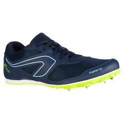 Veelzijdige atletiekschoenen met spikes AT Start marineblauw