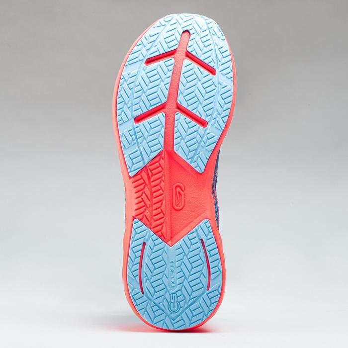 Hardloopschoenen kinderen AT 500 Kiprun Fast hemelsblauw fluoroze