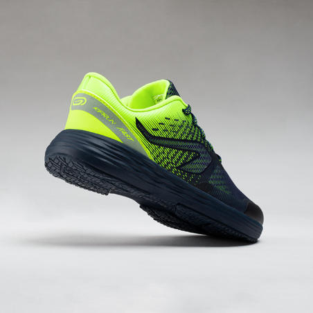 AT 500 KIPRUN FAST KIDS' ATHLETICS SHOES - NAVY/YELLOW