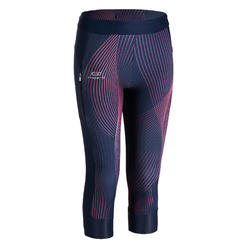 AT 500 GIRLS' ATHLETICS 7/8 TIGHTS - BLUE PRINT