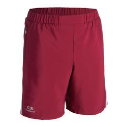 Baggy short voor atletiek kinderen AT 100 paars