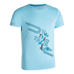 AT 300 KIDS' ATHLETICS T-SHIRT - LIGHT BLUE
