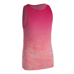 女孩款田徑背心AT 500-粉紅色