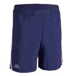 AT 100 KIDS' ATHLETICS BAGGY SHORTS - BLUE/PINK