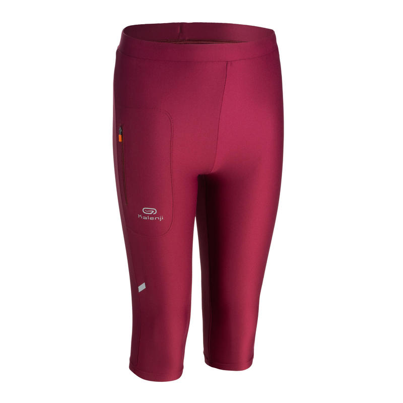 AT 100 KIDS' ATHLETICS CROPPED BOTTOMS - PURPLE