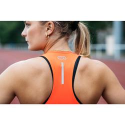 女款田徑運動內衣藍色與橘色
