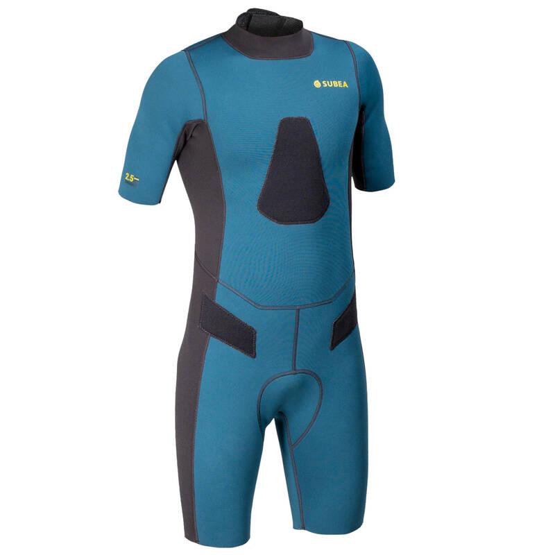 SPEARFISHING SUITS >25° Potápění a šnorchlování - KRÁTKÝ NEOPREN SPF 100 SUBEA - Freediving a podmořský rybolov