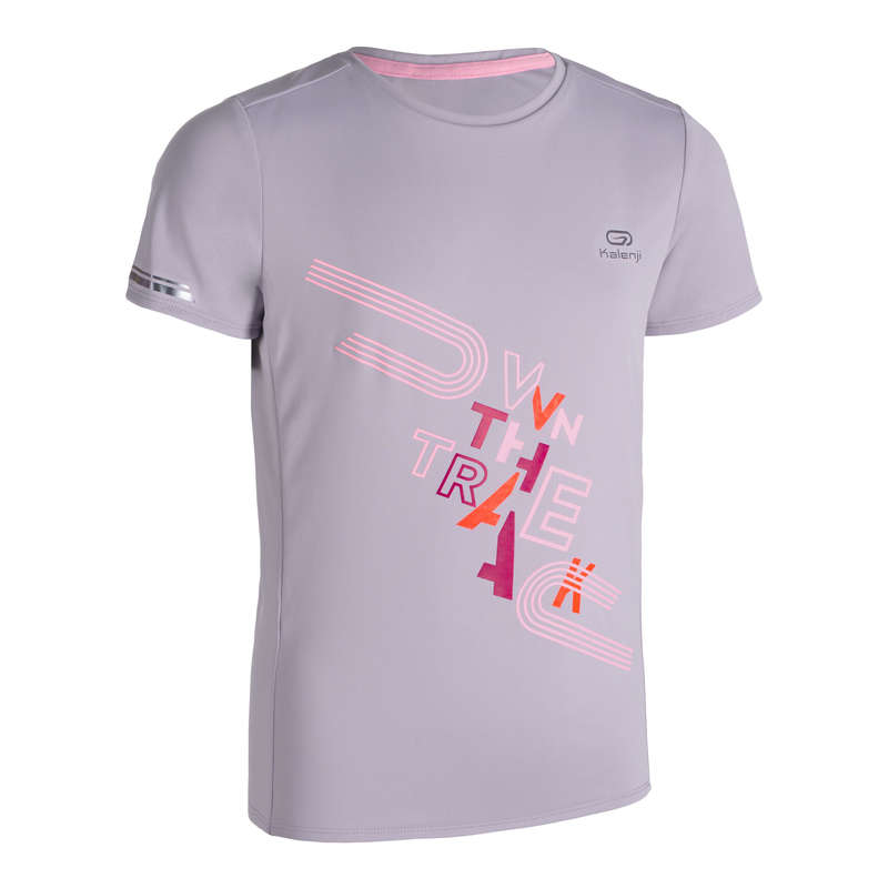 ÎMBRĂCĂMINTE ȘI ACCESORII ATLETISM COPII Alergare - Tricou Alergare AT300 Copii KALENJI - Imbracaminte