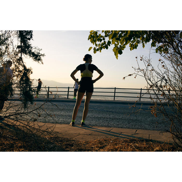 SAC A DOS DE RUNNING GILET MARATHON BLANC / JAUNE