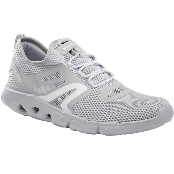Chaussures marche sportive homme PW 500 Fresh gris clair