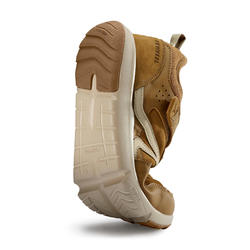 Chaussures marche sportive homme Actiwalk Easy Leather camel