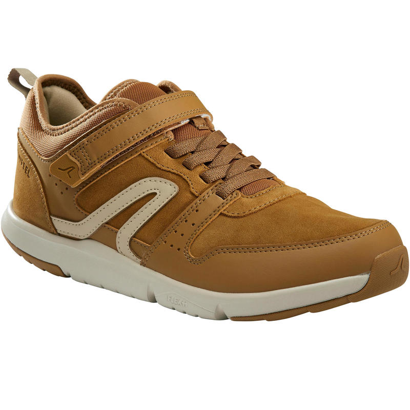 Chaussures cuir marche urbaine homme Actiwalk Easy Leather camel