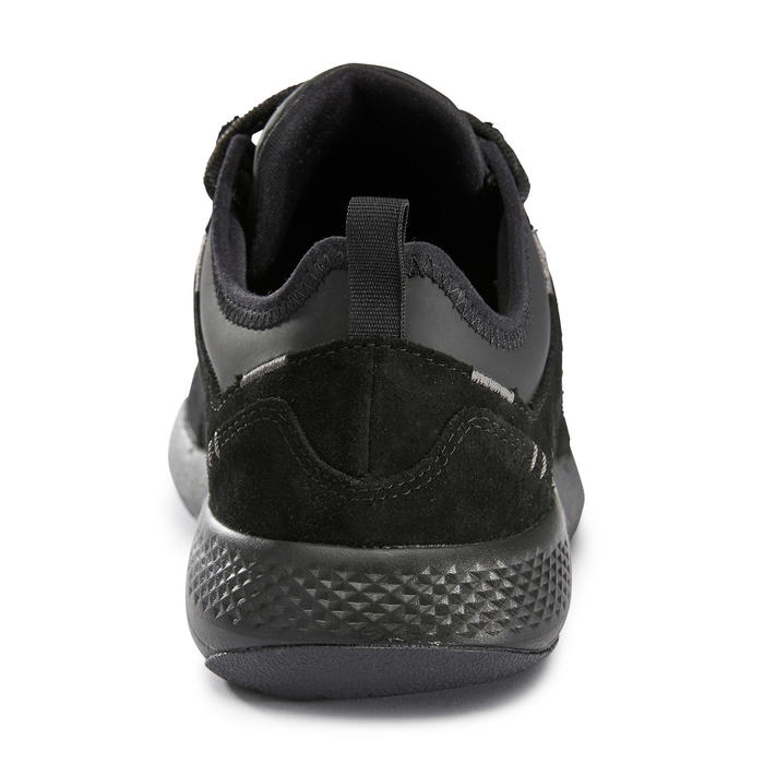 Chaussure marche sportive homme Actiwalk Confort Leather noir