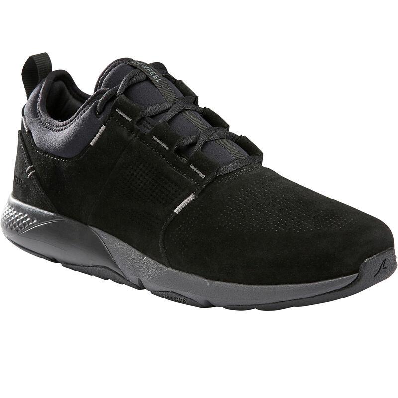 Actiwalk Comfort Leather Men's Active Walking Shoes - Black