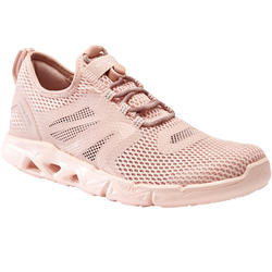 Calçado de caminhada desportiva mulher PW 500 Fresh rosa