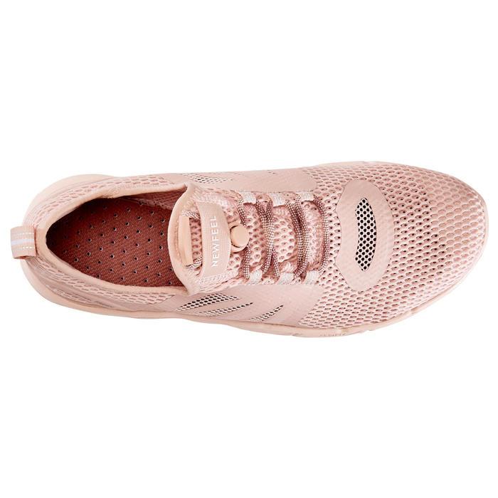 Damessneakers voor sportief wandelen PW 500 Fresh roze