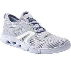 Damessneakers voor sportief wandelen PW 500 Fresh grijs