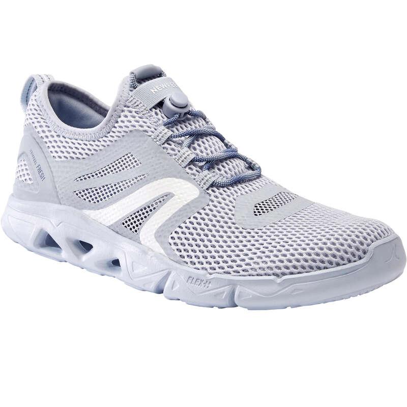 WOMEN SPORT WALKING SHOES Hiking - PW 500 Fresh - grey NEWFEEL - Outdoor Shoes