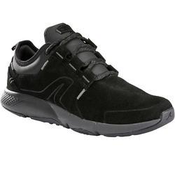 Damessneakers voor sportief wandelen Actiwalk Comfort Leder zwart