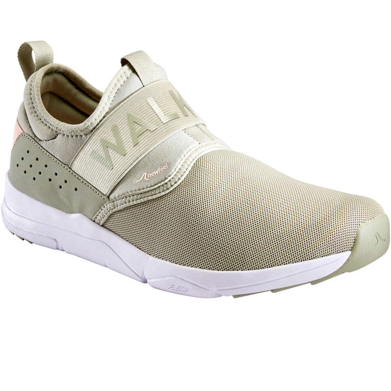 WALKINGSKOR DAM Typ av sko - PW 160 Slip On Dam kaki NEWFEEL - Sneakers