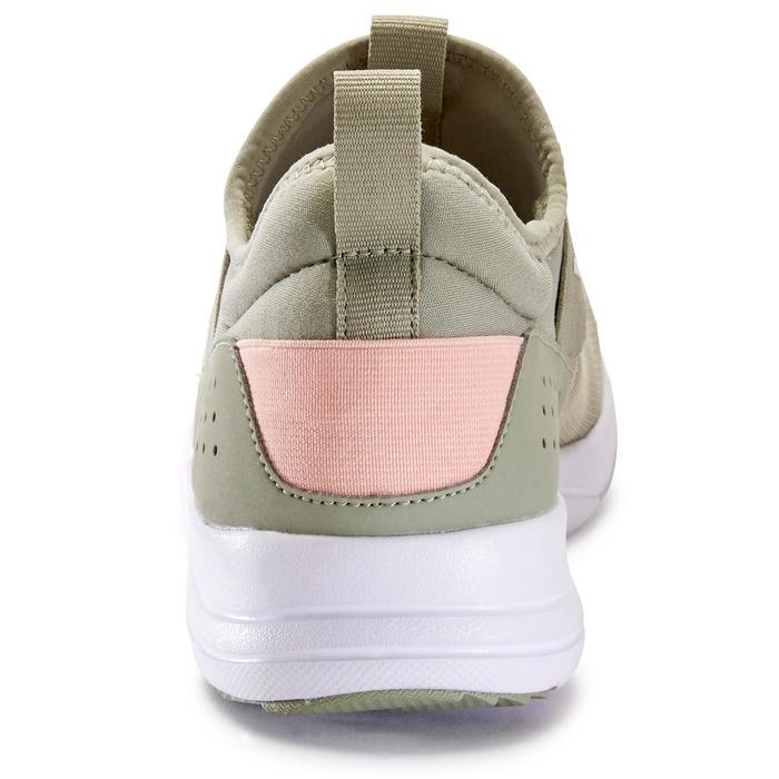 Damessneakers voor sportief wandelen PW 160 slip-on kaki