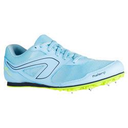 Veelzijdige atletiekschoenen met spikes AT Start hemelsblauw